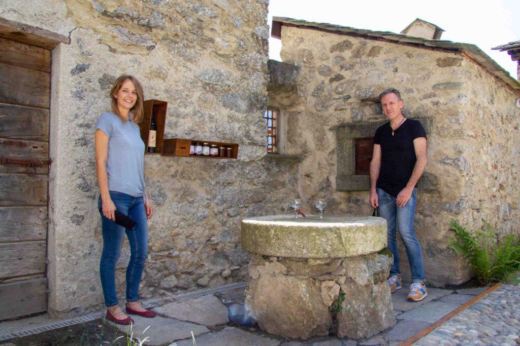 Lisette e Flavio i gestori di Borgo Selvapiana